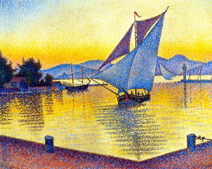 Paul_Signac_-_The_Port_at_Sunset._Saint-Tropez._Opus_236._1892_(масло,_холст).